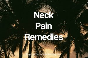 neck pain remedies