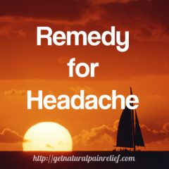 remedy for headache
